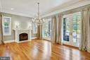 Dining with 2 sets of French doors to porch - 3038 N PEARY ST, ARLINGTON