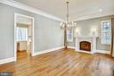 Dining room with gas fireplace - 3038 N PEARY ST, ARLINGTON