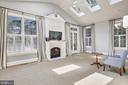 Living room, French doors to patio, 6 skylights - 3038 N PEARY ST, ARLINGTON