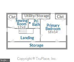 upper level floor plan - 114 S BUCKMARSH ST, BERRYVILLE