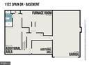 Lower Level Floorplan - 1122 SPAIN DR, STAFFORD