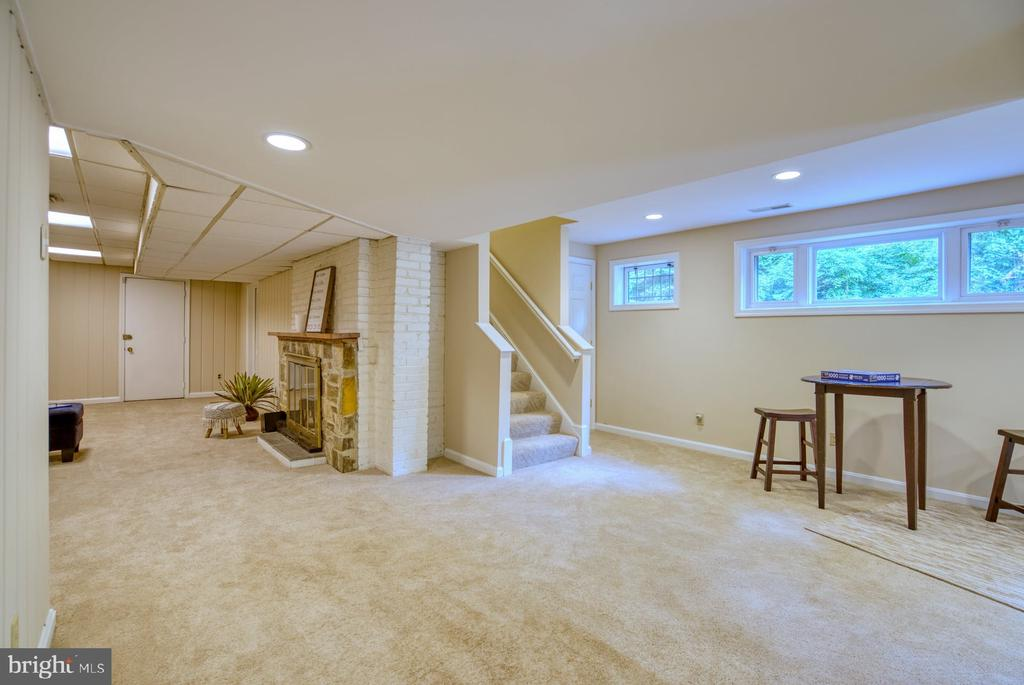 light-filled lower level - 9900 MOSBY RD, FAIRFAX