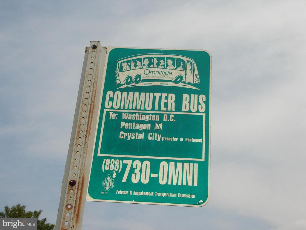 Commuter Bus Stop at Brittany Entrance - 4253 EXETER DR, DUMFRIES