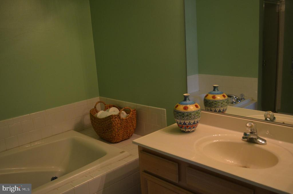 Master bath with jetted soaking tub - 6505 SPRINGWATER CT #7401, FREDERICK