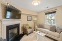 Lower Level Den with Fireplace - 22916 REGENT TER, STERLING