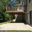 Deck from main level & patio off finished basement - 8300 MUSKET RIDGE LN, FREDERICKSBURG