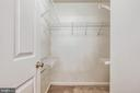 Walk in closet - 5970 EDGEHILL CT, ALEXANDRIA
