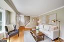 Living Room with Oak Hardwoods - 606 N OWEN ST, ALEXANDRIA
