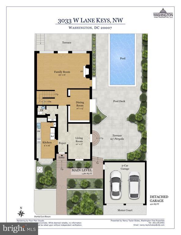 Main Level Floor Plan - 3033 WEST LANE KEYS NW, WASHINGTON