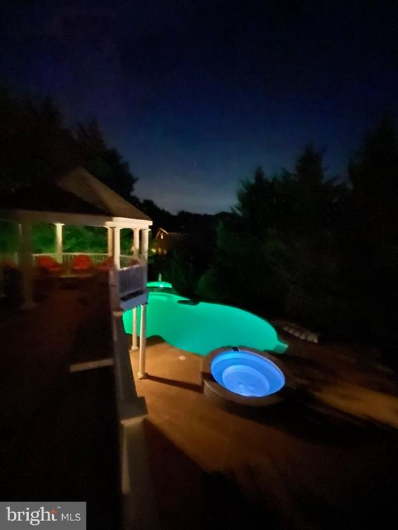Pool with Lights - 1035 HETH PL, WINCHESTER