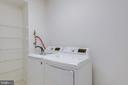 Full size washer and dryer in laundry room - 19365 CYPRESS RIDGE TER #816, LEESBURG