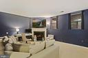 Family Room / Rec Room - Cozy Gas Fireplace! - 6342 JAMES HARRIS WAY, CENTREVILLE