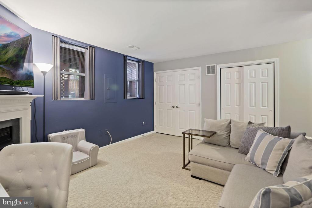 Family Room / Rec Room - LOVE this Bonus Space! - 6342 JAMES HARRIS WAY, CENTREVILLE