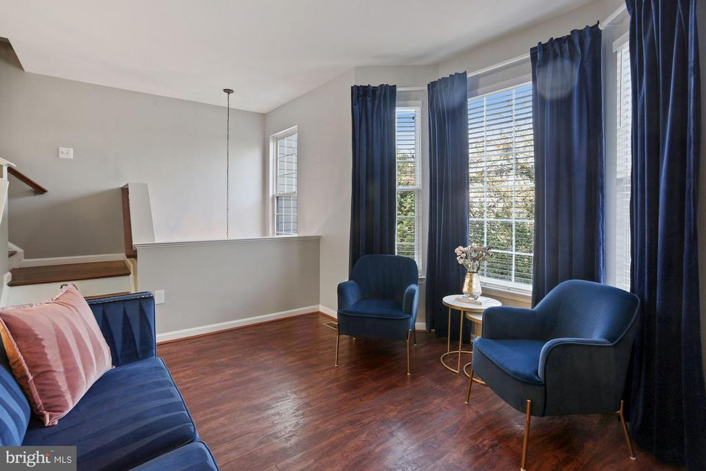 Living Room - An Abundance of Sunlight Streams In! - 6342 JAMES HARRIS WAY, CENTREVILLE
