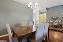 Dining Room - Modern Brushed Nickel Chandelier! - 6342 JAMES HARRIS WAY, CENTREVILLE