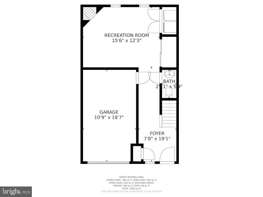 Floor Plan - Lower Level of Home - 6342 JAMES HARRIS WAY, CENTREVILLE