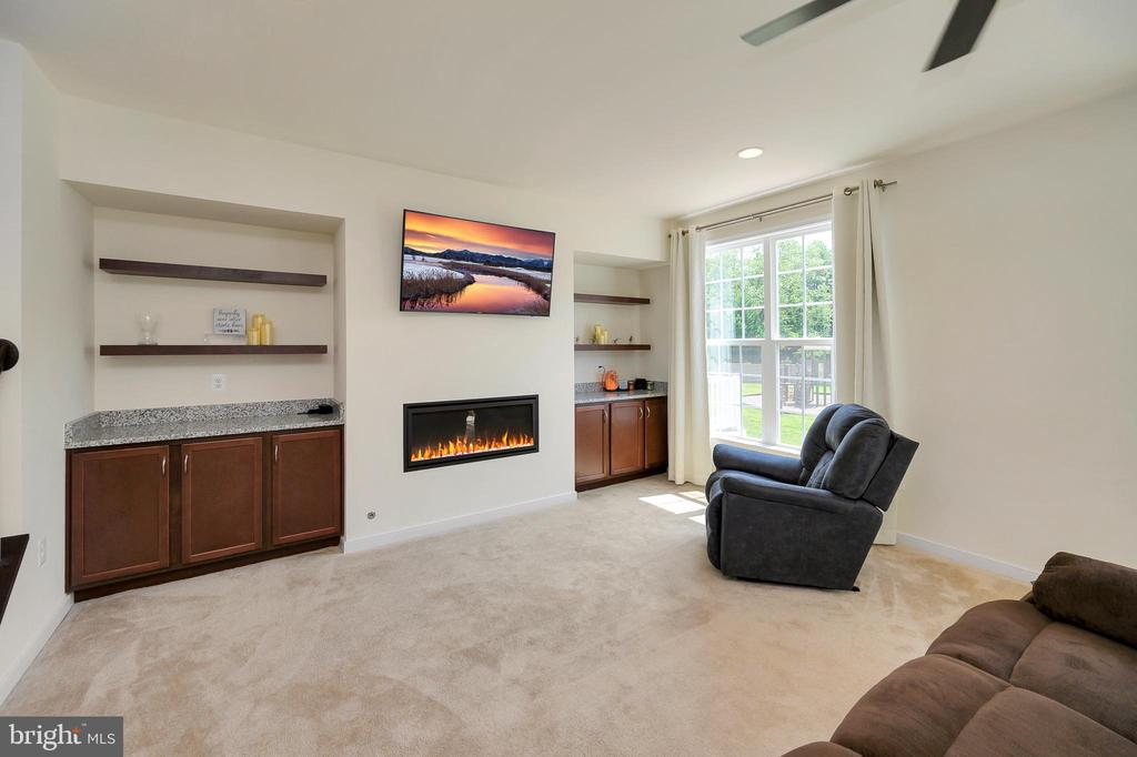 Built ins and gas fireplace - 114 THRESHER LN #18, STAFFORD