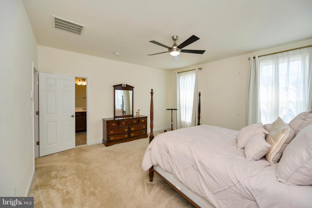 Ceiling fan & 4 windows in primary bedroom - 114 THRESHER LN #18, STAFFORD