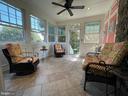 Porch w/Heated Tile Floors - 16344 LIMESTONE CT, LEESBURG