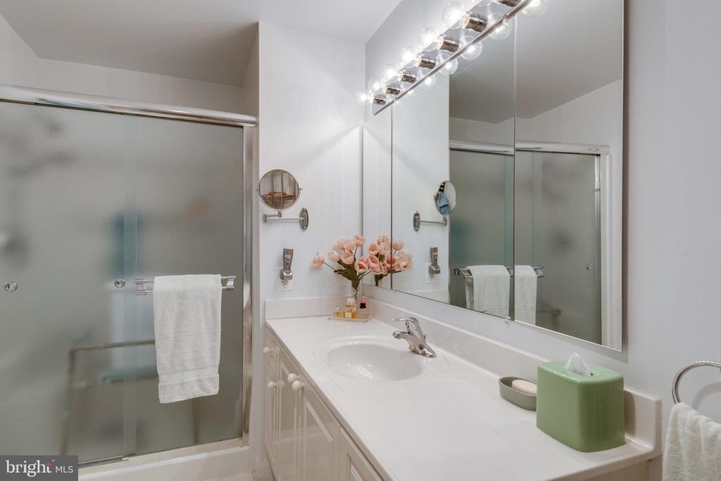 Primary bathroom also has a walk-in shower - 19365 CYPRESS RIDGE TER #1021, LEESBURG