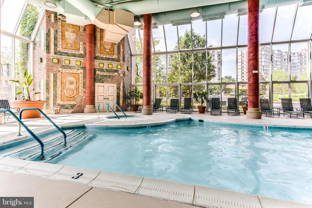 Enjoy the indoor pool and spa - 19365 CYPRESS RIDGE TER #1021, LEESBURG