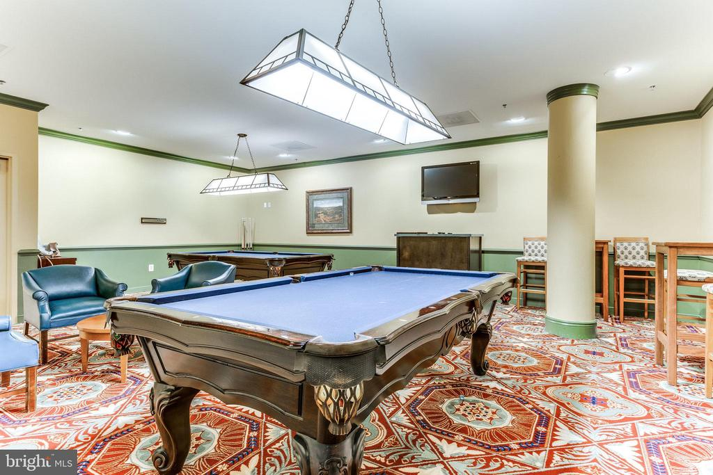 Game room is ready for challenging friends - 19365 CYPRESS RIDGE TER #1021, LEESBURG
