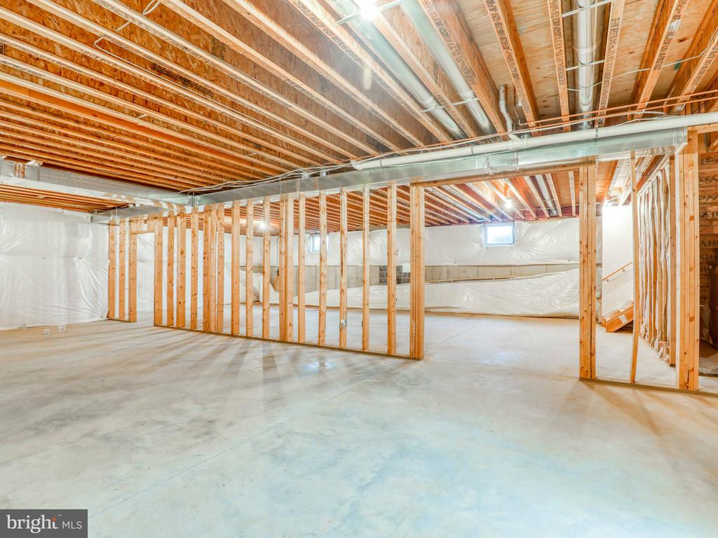 Basement has some 2x6 framing in place - 19185 EBENEZER CHURCH RD, ROUND HILL