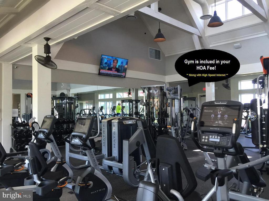 The gym is included in HOA fee - 2300 HARMSWORTH DR, DUMFRIES