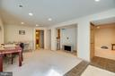 Rec room in basement - built in entertainment area - 8300 MUSKET RIDGE LN, FREDERICKSBURG