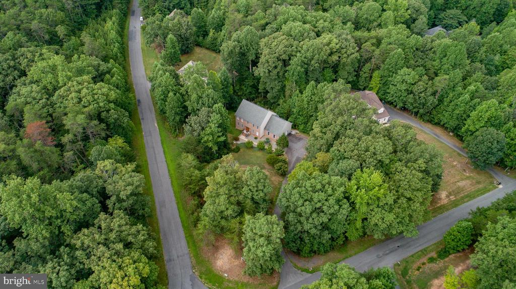 View from above showing how private your home is ! - 8300 MUSKET RIDGE LN, FREDERICKSBURG