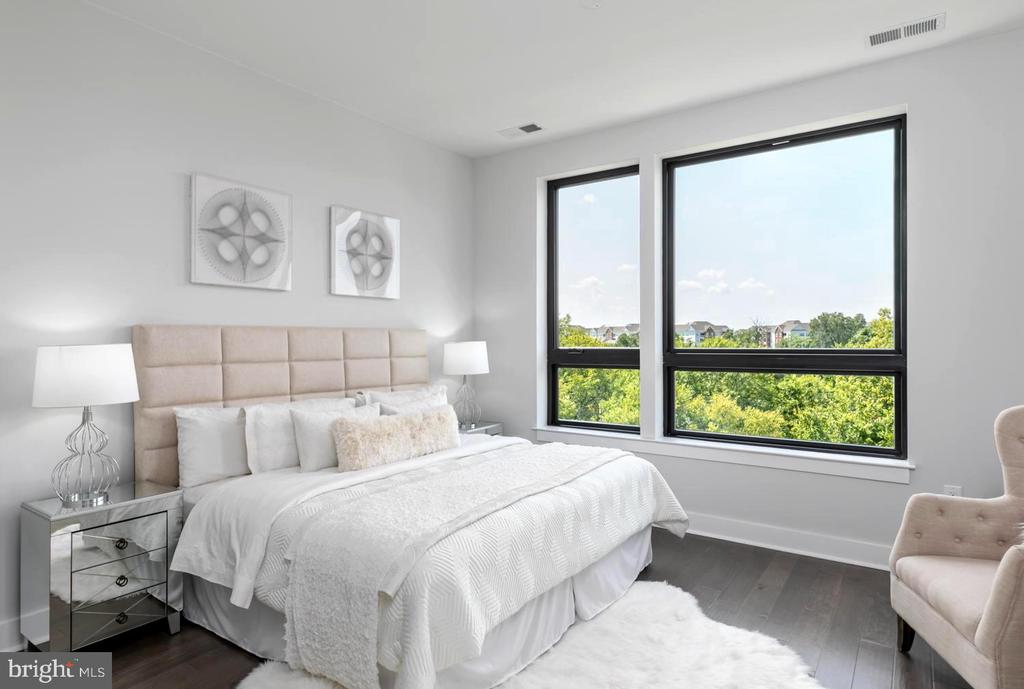 Primary Bedroom with gorgeous view - 44691 WELLFLEET DR #208, ASHBURN