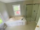 Primary bath w/ brand new shower and paint - 12659 WIMBLEY LN, WOODBRIDGE
