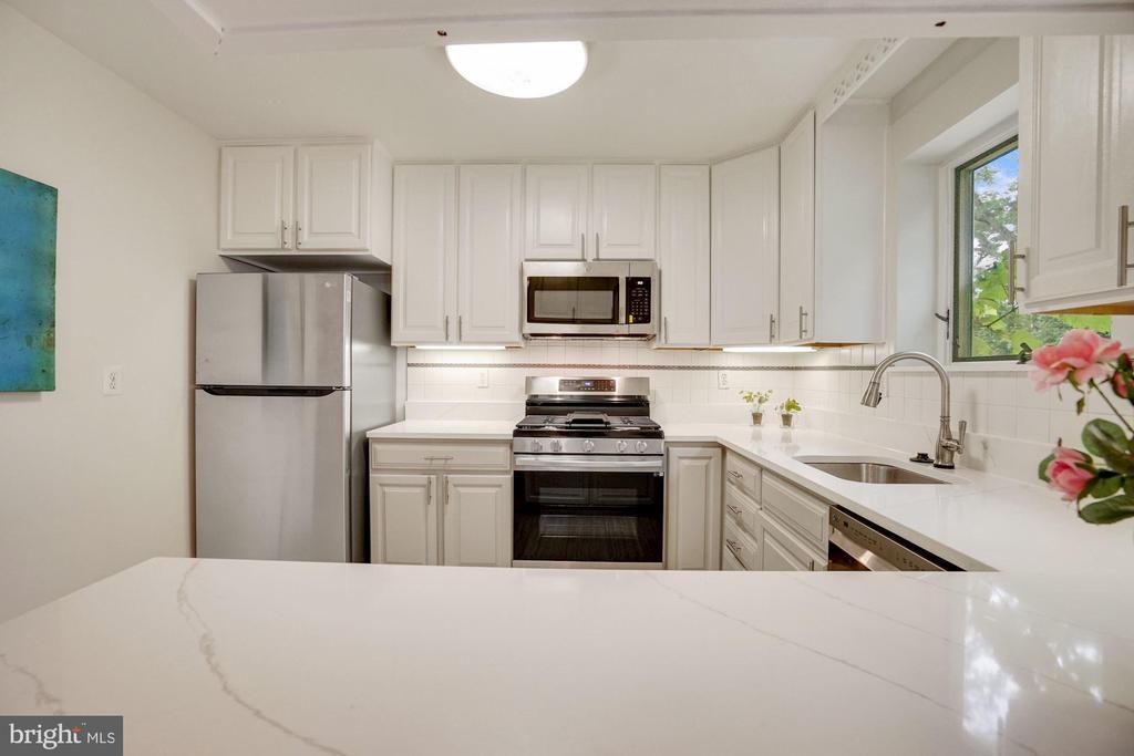 New quartz countertops; sink and faucet hardware - 5905 DEWEY DR, ALEXANDRIA