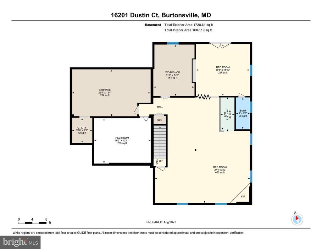 Floor Plan - Basement - 16201 DUSTIN CT, BURTONSVILLE