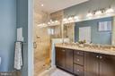 Ensuite bathroom with stunning tiled shower - 1418 N RHODES ST #B-112, ARLINGTON
