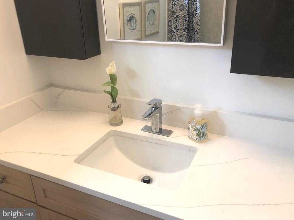 Sink is flanked by two large medicine cabinets - 5905 DEWEY DR, ALEXANDRIA