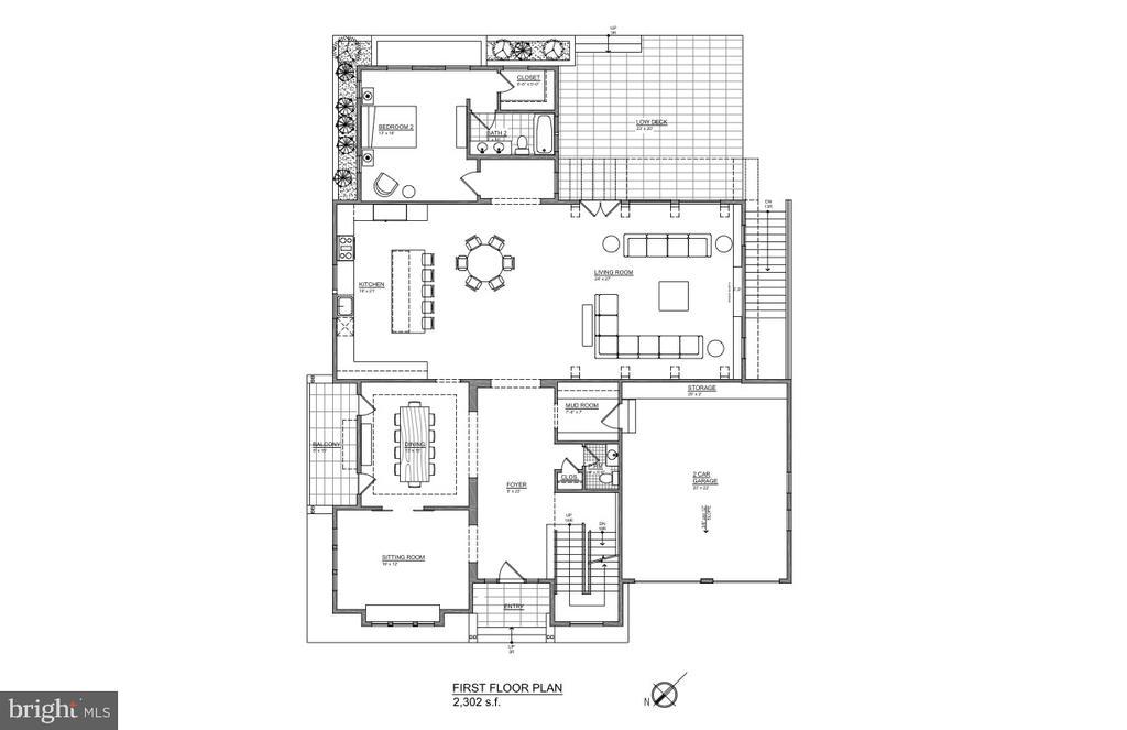 Main Level - floor plan - 202 ELM ST SW, VIENNA