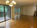 Another dining - living room view - 11605 CLUBHOUSE CT, RESTON