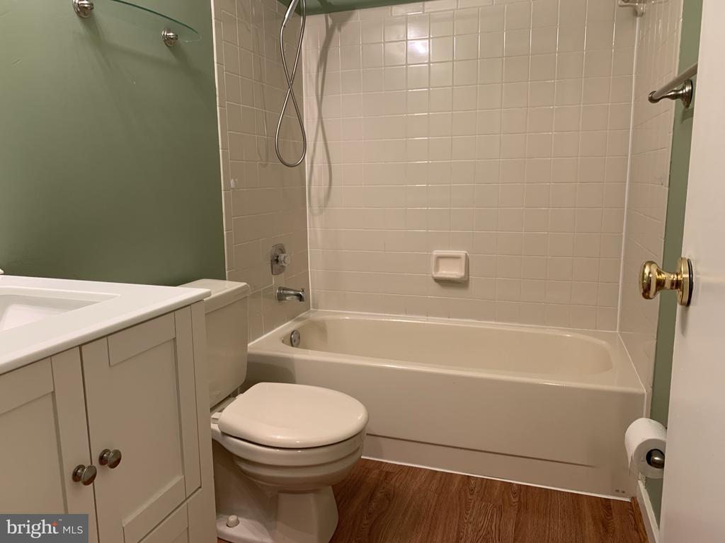 Vinyl wood like floors full bath - 11605 CLUBHOUSE CT, RESTON