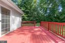 Deck overlooking the back yard - 781 COURTHOUSE RD, STAFFORD