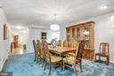Large dining room for family gatherings - 8927 BURBANK RD, ANNANDALE