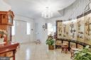 Entrance with chandelier - 8927 BURBANK RD, ANNANDALE