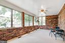 Enclosed back porch with heating/air conditioning - 8927 BURBANK RD, ANNANDALE