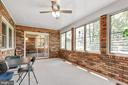 Porch on back side of home provides privacy - 8927 BURBANK RD, ANNANDALE