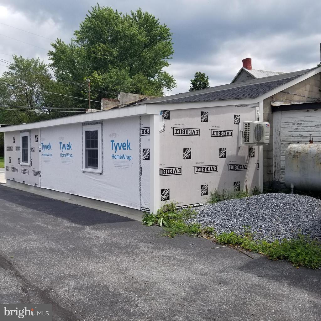 Garage - Outside from back corner of rebuild - 11020 HESSONG BRIDGE RD, THURMONT