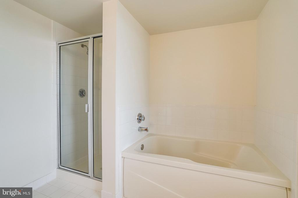 Separate shower and bathtub. - 2220 FAIRFAX DR #803, ARLINGTON