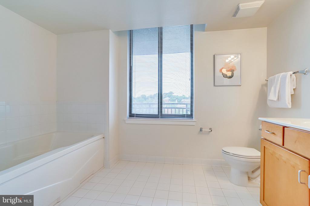 Large primary bathroom. - 2220 FAIRFAX DR #803, ARLINGTON