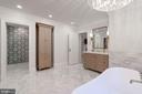 Herringbone Carrara Marble Floors - 3315 HIGHLAND PL NW, WASHINGTON