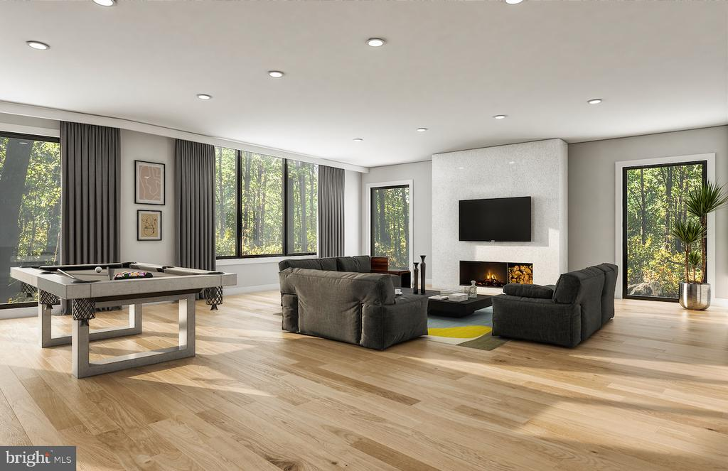 Conceptual Lower Level Living Space - 3632 36TH RD N, ARLINGTON