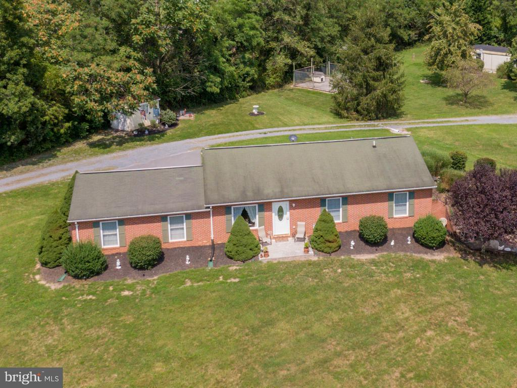 Drone view of front of home - 140 BOWMAN LN, WINCHESTER
